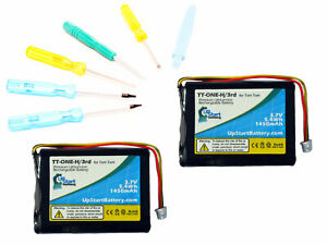 2-Pack Garmin Nuvi 680 Battery with Tools Kit 1500mAh, 3.7V, Lithium Polymer