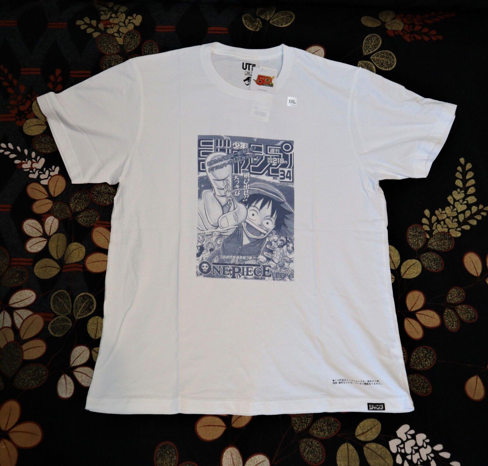 ONE PIECE X UNIQLO Shonen Jump Graphic Tee shirt 50th COMIC COVER  S ,M ,L, XL
