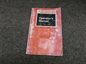 kenworth t300 owners manual