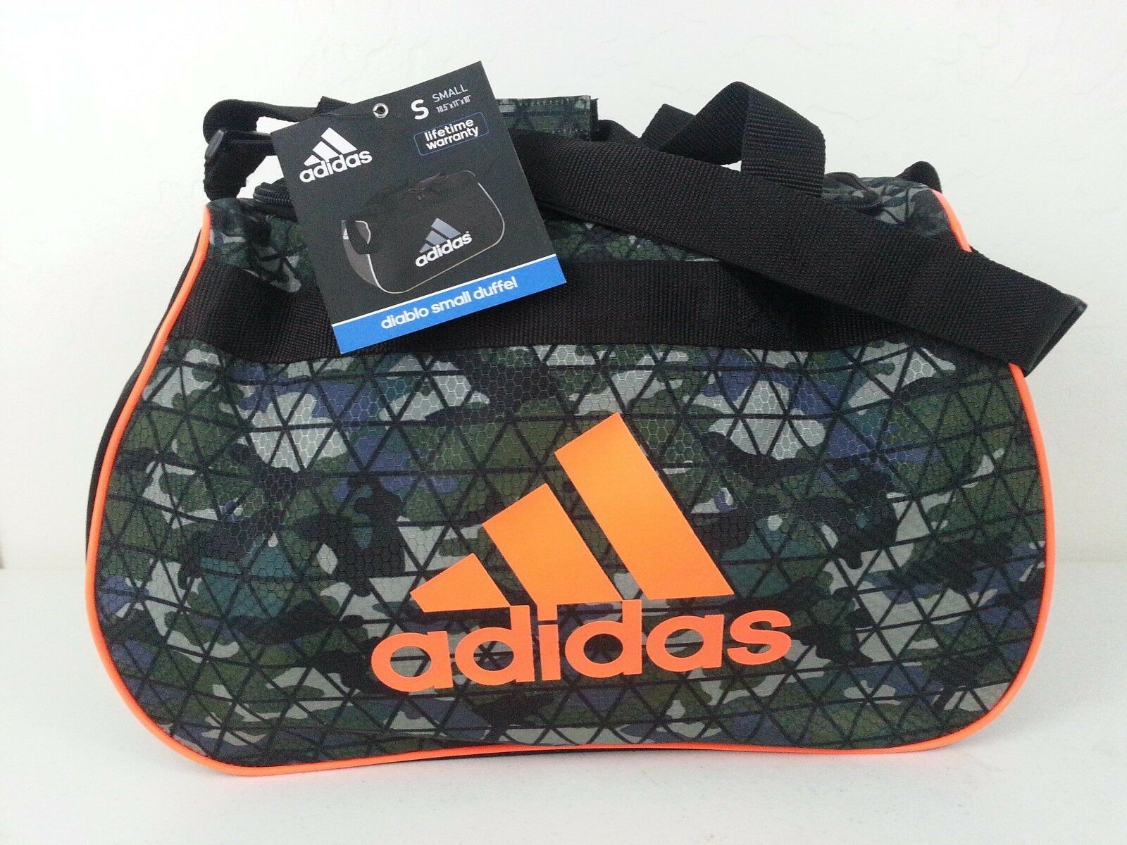 Adidas Diablo NWT Small Duffel Bag Crusher Night Gym Travel Carry On Expandable
