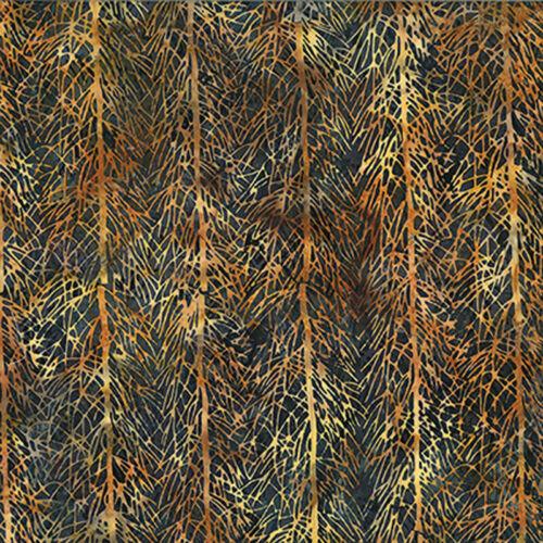 Per 1//4 Metre Hoffman Batik Fabric 3362-311 Brown