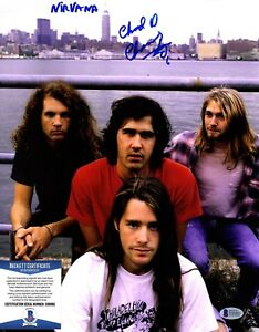 Chad Channing Con Kurt Cobain Firmado Nirvana Baterista 11x14 Beckett Bas B36882 Ebay