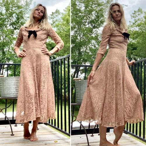 30s Evening Dress - 30s Dress - 30s Lace Dress - 3