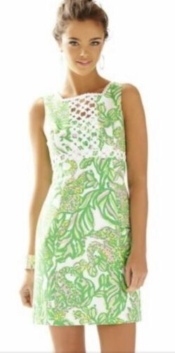 Lilly Pulitzer Rosie Seeing Pink Elephants Green P
