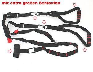 SCHLINGENTRAINER-inkl-Tueranker-Krabiner-125kg-Haken-Suspension-Sling-Training-33