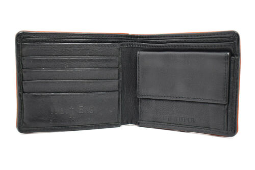 West End by Simon Carter Leather Mens Card and Notes Wallet Black