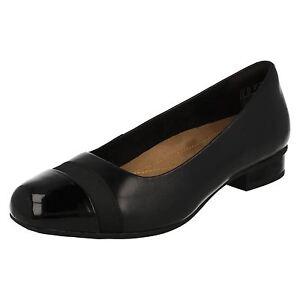 32804c55fbcd8 Clarks 'Keesha Rosa' Ladies Black Leather Slip On Ballerina Shoes ...