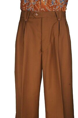 Black Men/'s walking suit 2 piece with Wide leg Pant wool Blend with lining Col