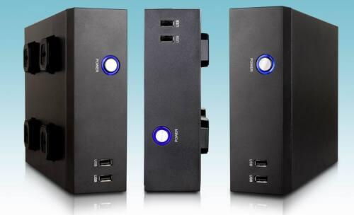 NEW Black Mini ITX Silent HTPC Fanless 2-Front USB 2.0 Desktop PC DIY Empty Case