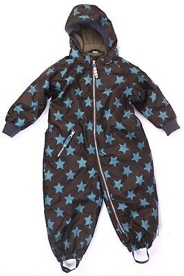 98 Suit Winter Overall warm RACOON STAR Kinder Schneeanzug Braun Sterne Gr 92