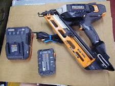 Ridgid R250AF18 Cordless Angle Nailer Power Tool w/ Battery Charging Station
