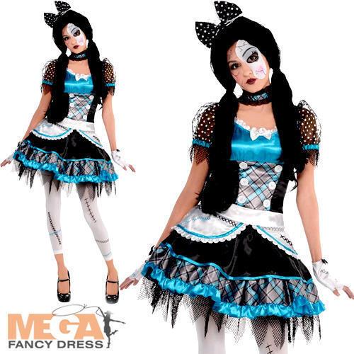In frantumi Bambola Bambina Halloween Zombie Rag Dolly adolescenti ragazzi Costume