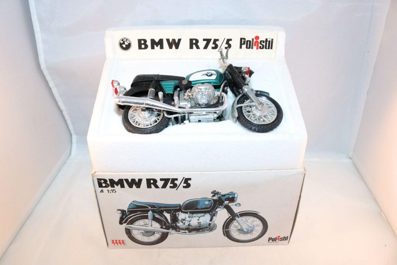Polistil MS 105 BMW R75 5 motorcycle 99.9% mint in box 1 15 all original