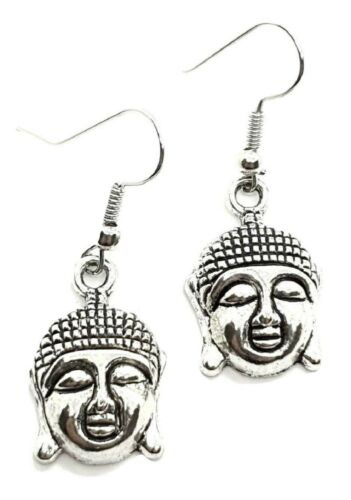 Pendientes de Cabeza de Buda budista Karma Hippy paz espiritual Fe vendedor del Reino Unido