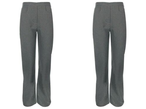 TWO PAIRS GIRLS SCHOOL PULL UP TROUSERS ~~~ BACK TO SCHOOL SPECIAL DEAL~~~