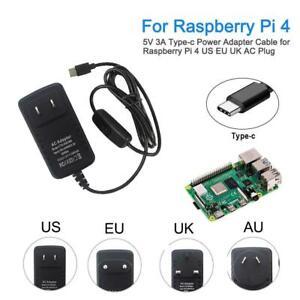 Raspberry-Pi-4-4B-Power-Supply-Adapter-ON-OFF-Switch-USB-C-5V-3A-US-EU-Plug