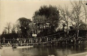 Cpa Militaire - Bridge Over A River - Photo Postcard (698233) Hht41unf-07234305-588229415