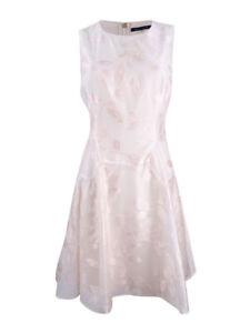 Tommy-Hilfiger-Women-039-s-Floral-Brocade-Drop-Waist-Dress