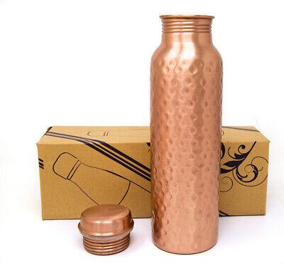 950 ML 100/% Pure Copper Water Storage Bottle Ayurveda Yoga Health Benefits