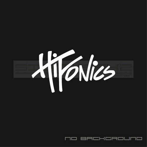 Hifonics audio Decals Stickers Car Audio car window stickers Pair