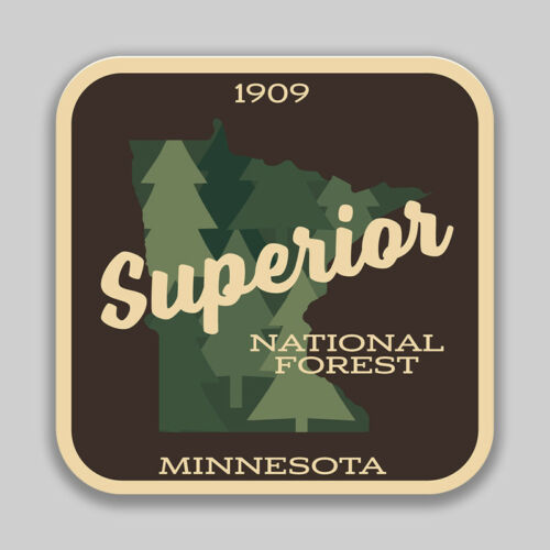 Superior National Forest Decal Sticker Explore Wanderlust Camping Hiking