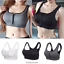Women-Ladies-Sports-Bra-High-Impact-Front-Zip-Wireless-Padded-Cup-Vest-Tank-Top thumbnail 8