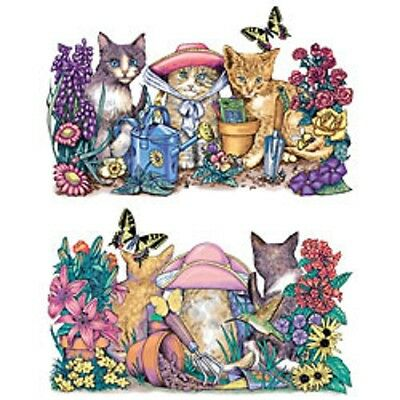 Garden Cat T Shirt HEAT PRESS TRANSFER Also For Sweatshirt Tote Bag Fabric #272f