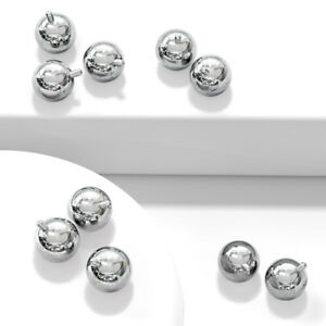 Body Jewelry Replacement Parts - 10pk Surgical Steel Internally Threaded Balls