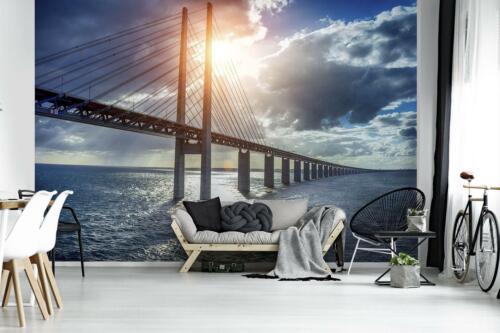 Fototapete XXL Wandbilder Tapete 220632FW Brücke Wasser Landschaft Architektur