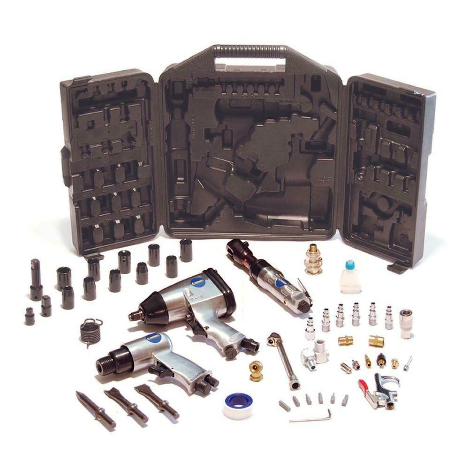 Air Compressor Tool Accessory Kit Primefit w  Storage Case 50 Piece Garage Shop