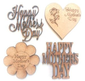 10x WOODEN I LOVE MY SON SHAPES gift tag craft card scrapbook embellishment art