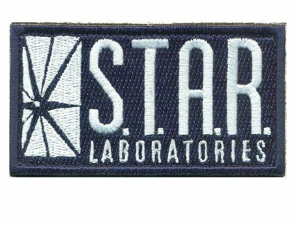 The flash ecusson STAR laboratories + scratch the flash STAR hook & loop patch