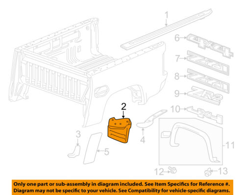 GM OEM Pick Up Box Bed-Deflector Left 23346482