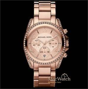 Michael-Kors-Damen-Uhr-Blair-MK5263-Chronograph-Edelstahl-rose-NEU-OVP