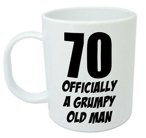 Image Is Loading 70 Officially Mug Funny Novelty 70th Birthday Gifts