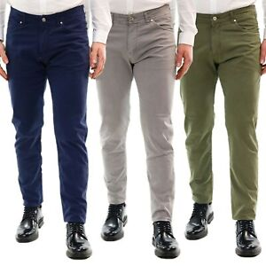 Pantaloni-Uomo-Slim-FIt-Chino-Estivi-Elegante-Cotone-Leggero-Casual-5-Tasche