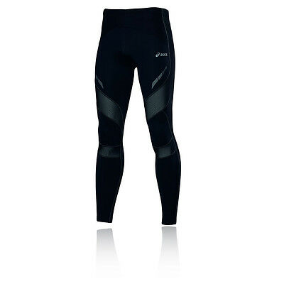 Asics Leg Balance Mens Black Running Training Long Tights Bottoms Pants