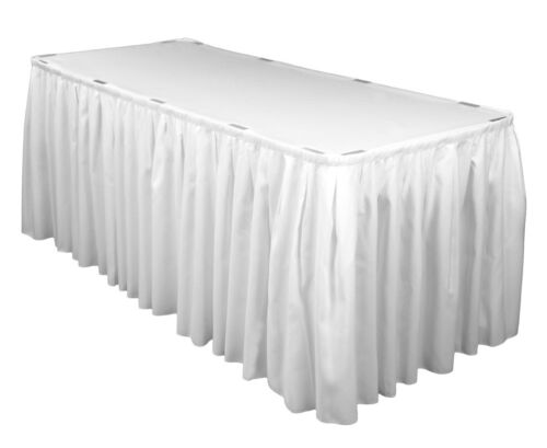 White Black all Sizes Table Skirt Skirting Cloths Wedding Events Tablecloths