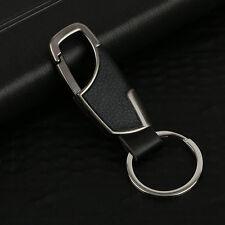 Fashion Metal Leather Key Chain Ring Keyfob Car Keyring Keychain Gift For Men