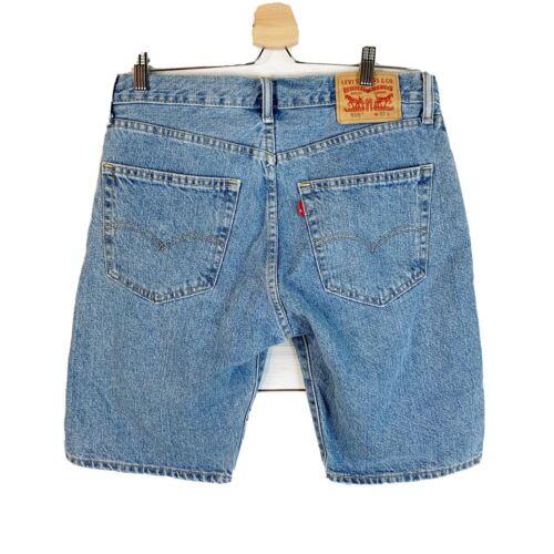 Vintage Levi 505 High Rise Bermuda Jean Shorts Zip