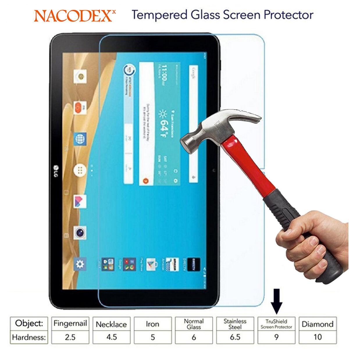 Nacodex For LG G Pad II 10.1 V940 HD Premium Tempered Glass Screen Protector