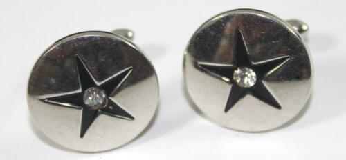 Mid Century Musical Note Cuff Links Vintage 1950s 1960s Silver Swank Cuff Link