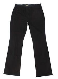 Lee-Womens-Jeans-Black-Size-14-Stretch-Bootcut-Leg-Flex-Motion-Denim-56-973
