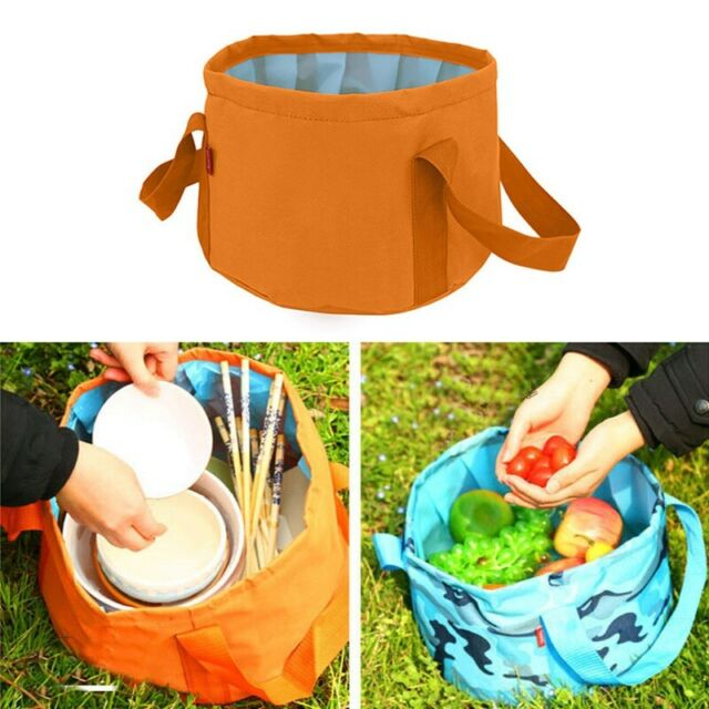 12L Folding Sink Washbasin Water Bucket Wash Basin Camping Water Pot Bag