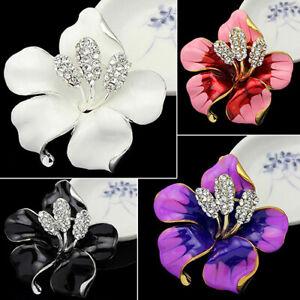 Bridal-Wedding-Jewelry-Rhinestone-Lily-Flower-Scarf-Brooch-Pin-Lady-Party-Perfec