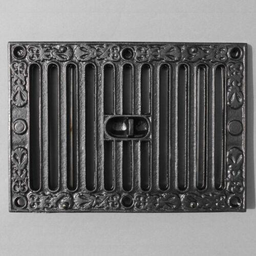 En Fonte Noir Bouche D/'Aération Victorien Ancien Hit /& Miss Kenrick 22.9x15.2cm