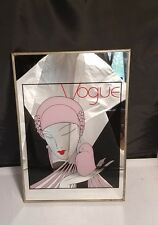 VINTAGE Vogue Mirror Magazine Art Deco Nouveau Wall art Decor ad conde nast RARE