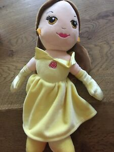 "Disney Princess Cute 10/"" Belle Soft Doll Posh Paws 33304A"