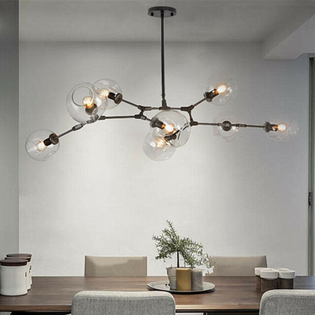 Black Chandelier Lighting Lobby Modern Ceiling Lamp Bedroom Led Pendant Lights For Online Ebay