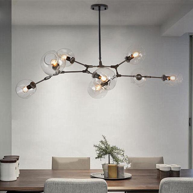 Black Chandelier Lighting Lobby Modern Ceiling Lamp Bedroom LED Pendant  Light